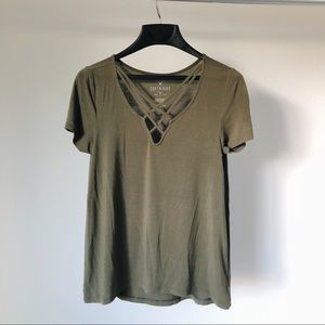 American Eagle Soft Green Shirt